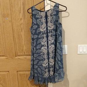 Petite sleeveless boho dress
